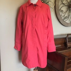 Eddie Bauer Size XL CoralTrench Coat with Buttons